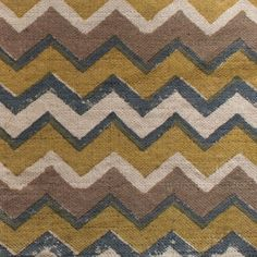 Zig Zag | walter-g.com.au #fabric #green #yellow #brown