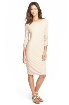 James Perse Scoop Back Dress available at #Nordstrom