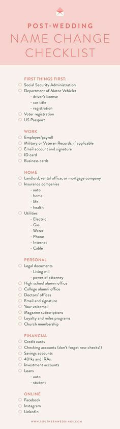 Name Change Checklist                                                       …