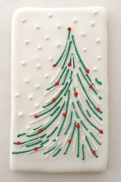 1 + Irresistible Christmas Desserts to Serve This Holiday Dazzle your holiday table (and guests!) with these easy-to-make cookies . Christmas Tree Cookies, Iced Cookies, Christmas Sweets, Royal Icing Cookies, Noel Christmas, Christmas Goodies, Cookies Et Biscuits, Holiday Cookies, Christmas Candy