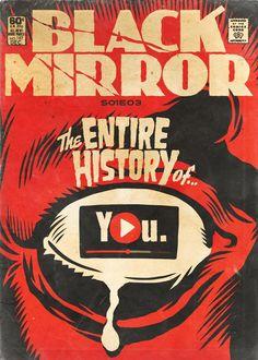 """Artista transforma episódios de Black Mirror em capas no estilo """"era de ouro"""" - Jovem Nerd"""