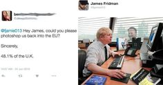 Photoshop Master James Fridman Continues to Deliver Outstanding Edits to Twitter Requests