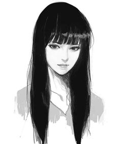 Sketches bts 46 Ideas anime art sketch bts 46 Id Female Face Drawing, Drawing Faces, Cool Drawings, Pencil Drawings, Manga Drawing, Manga Art, Drawing Tips, Japon Illustration, Poses References