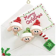 Christmas Letter 3 Personalised Christmas Ornament - The Ornament Shop