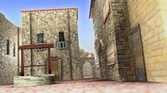 Mediterranean town square  Copyright Iain Bruce 2013  Modelled, textured and rendered in Blender