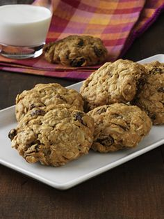 Vanishing Oatmeal-Raisin cookies - made with quick oats.
