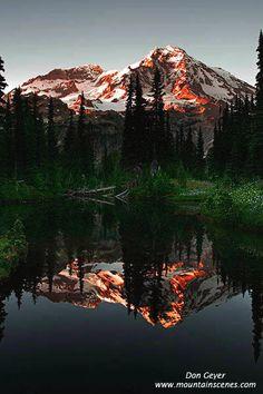 Mirror Lake, Mt Rainier. Need to hike here