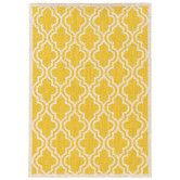 Found it at Wayfair - Silhouette Yellow Quatrefoil Rug 8 x 10 $570