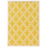 Found it at Wayfair - Silhouette Yellow Quatrefoil Rug 8 x 10 $570