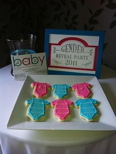 """Gender Reveal"" baby shower ideas"