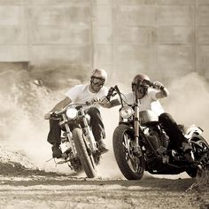 Ride it - like you stole it… if you love the beautiful images of motorcycles, clothing, accessories helmets, look www.gentlemens-factory.com  See you on pinterest or on the road!  Laurent
