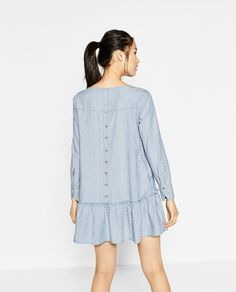 ff8ee1a1fac Image 6 of FRILLED STRIPED DRESS from Zara