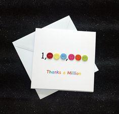 Thanks a Million Card Teacher Birthday Card, Teachers Day Card, Teacher Thank You Cards, Thank You Cards From Kids, Handmade Thank You Cards, Handmade Birthday Cards, Greeting Cards Handmade, Teacher Gifts, Homemade Greeting Cards