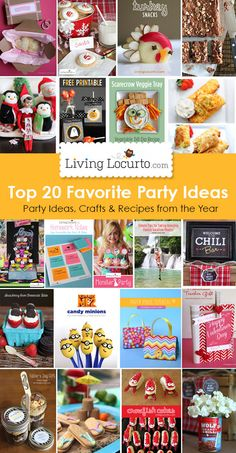 Top 20 Favorite DIY Party Ideas, Crafts and Recipes of the year from LivingLocurto.com