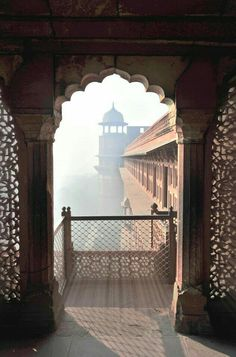 Mist through a window of the Red Fort, India. The Red Fort is a century fort complex constructed by the Mughal emperor, Shah Jahan in the walled city of Old Delhi that served as the residence of the Mughal Emperors. Goa India, India Tour, Delhi India, India Palace, The Places Youll Go, Places To Go, Beautiful World, Beautiful Places, Amazing Places