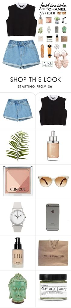 """""""Saturday Afternoon"""" by honeyblvd ❤ liked on Polyvore featuring Monki, CO, Pier 1 Imports, Christian Dior, Chanel, Clinique, Tom Ford, Normal Timepieces, Bobbi Brown Cosmetics and Louis Vuitton"""