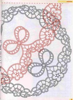 """Photo from album """"Ришелье"""" on Yandex. Sewing Machine Embroidery, Cutwork Embroidery, Machine Embroidery Patterns, Embroidery Stitches, Embroidery Designs, Quilting Templates, Parchment Craft, Thread Painting, Cut Work"""