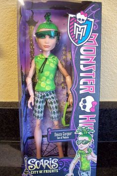 2013 MONSTER HIGH SCARISCITY OF FRIGHTS SERIES DEUCE GORGON DOLL !!!!