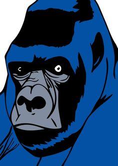 Blue gorilla by GIULIANOBONFANTIART