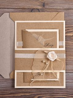 Toile de jute naturelle mariage Invitation par DecorisWedding