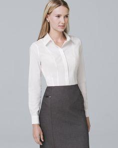 No-Iron Poplin Shirt - White House Black Market Fashion Pants, Fashion Dresses, High Fashion, Fashion Tips, Fashion Design, Men Fashion, Fashion Ideas, Fashion Trends, Reversible Dress