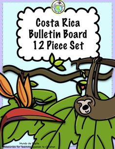 Decorate your classroom with our 12 piece Costa Rica Rainforest Bulletin Board set! Great for Spanish class or for a rainforest theme! Mundo de Pepita, Resources for Teaching Spanish to Children Spanish Classroom, Teaching Spanish, Classroom Ideas, Rainforest Theme, Middle School Spanish, Spanish Lesson Plans, Teaching Vocabulary, How To Speak Spanish, Spanish 1