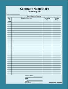 retail inventory sheet template inventory sheet templates