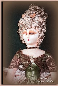 (via Pat Brill, source: flickr.dd) boudoir doll rare court lady
