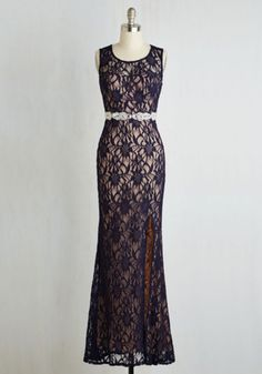 Maxi Praiseworthy Glamour Dress in Midnight by ModCloth