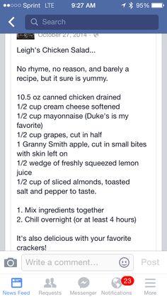 Leigh's chicken salad