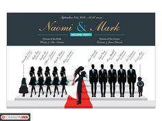 Custom Wedding Program Silhouette Wedding Program by carbonink