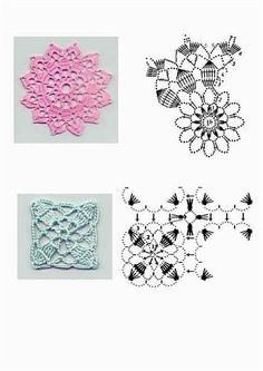 It is a website for handmade creations,with free patterns for croshet and knitting , in many techniques & designs. Crochet Motif Patterns, Crochet Blocks, Crochet Squares, Granny Squares, Crochet Stitches, Crochet Carpet, Crochet Home, Easy Crochet, Mandala Yarn