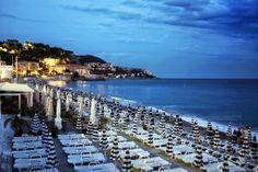 Nice beach at night, #France, Cote d'Azur