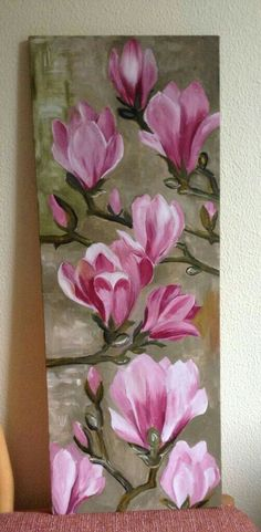 Flores rosas #OilPaintingFlowers