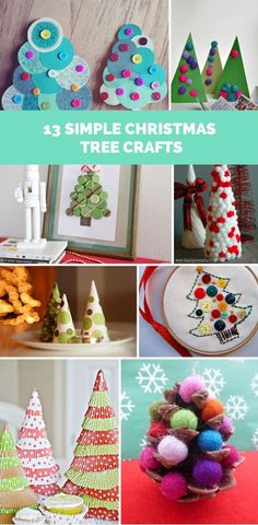 Lots of cute and easy Christmas tree crafts for kids.