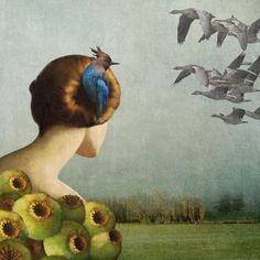 Daria Petrilli's Digital Illustrations of Serenity and Nature   Hi-Fructose Magazine