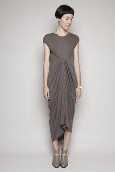 Totokaelo - Rick Owens Lilies - Sleeveless Dress - Dark Dust