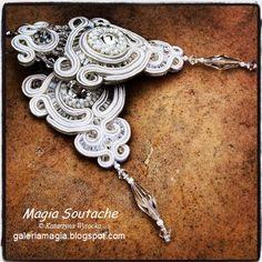 Napkin rings with soutache by GaleriaAURUS on DeviantArt Soutache Bracelet, Soutache Jewelry, Napkin Rings, Belly Button Rings, Swarovski Crystals, Deviantart, Bracelets, Silver, Brides