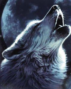 Wolf full moon tattoo - Google Search