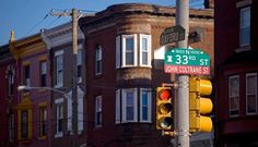 """1511 North 33rd St, Philadelphia has been deemed a Natural Historic Landmark. The 3 story Dutch-gabled row house, located in North Philadelphia's """"Strawberry Mansion"""" area, is in a middle class Black neighborhood and the former home of John Coltrane. Coltrane lived in the house from 1952 to 1958."""
