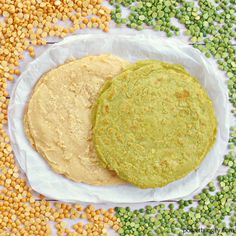 Incredible split pea tortillas made with green or yellow split peas (plus water and salt). They are grain-free oil-free sugar-free vegan high in fiber and high-protein. Split Pea Recipe Vegan, Yellow Split Pea Recipe, Green Split Peas, Green Peas, Pea Recipes, Lentil Recipes, Indian Food Recipes, Vegetarian Recipes, Cooking Recipes