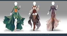 (OPEN) Adoptable Outfit Auction 174 - 176 by Risoluce on DeviantArt