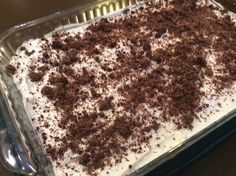 Hershey Pie, Low Carb - reminiscent of chocolate lasagna or Oreo pie - Total Carbohydrate 4.8 g, Dietary Fiber 1.3 g/per serving