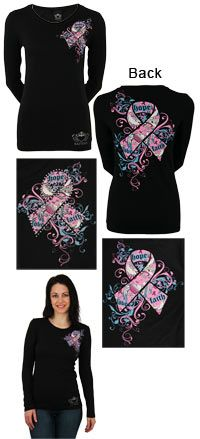love this one Free Spirit Pink Ribbon Long Sleeve Tee at The Breast Cancer Site