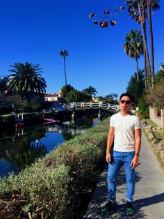 Fluxin' it in the canals during a sunny LA weather