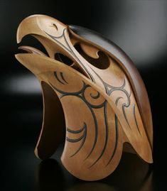 eagle with kowhaiwhai designs