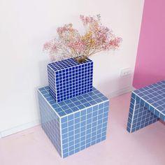 Home Decor Pictures Diy Tisch, Tile Tables, Cube Table, Home Decor Pictures, Handmade Tiles, Diy Table, Tile Design, Cheap Home Decor, Home Decor Accessories