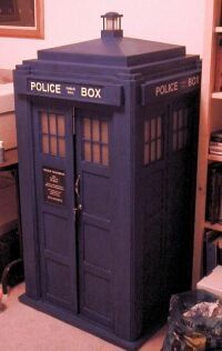 How to... build your own TARDIS from scratch from wood. This is a great site, and even if you only want to build a small TARDIS from cardboard, the directions are invaluable.