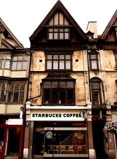 Starbucks on the High Street in Oxford, England