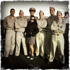 BTS with Colin Moy, Nic Sampson , AJ Jackson and Matthew Fox on the set. Picture taken by The Makeup School in New Zealand Matthew Fox, Tommy Lee Jones, School Makeup, New Movies, Emperor, Military Jacket, Jackson, Bts, Field Jacket